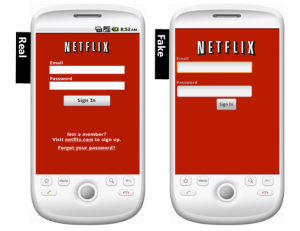 Fake vs Real Netflix Android App